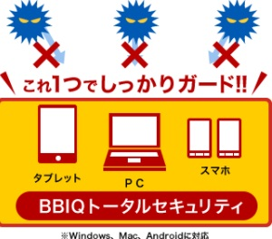 BBIQトータルセキュリティの説明画像