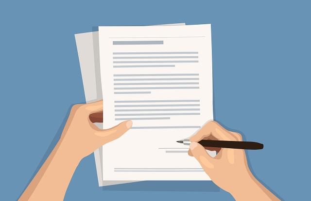契約書類のイメージ画像