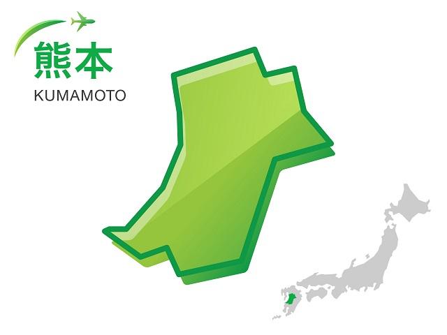 熊本県の地図:イラスト素材