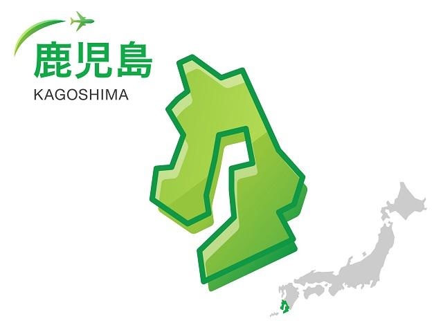 鹿児島県の地図:イラスト素材
